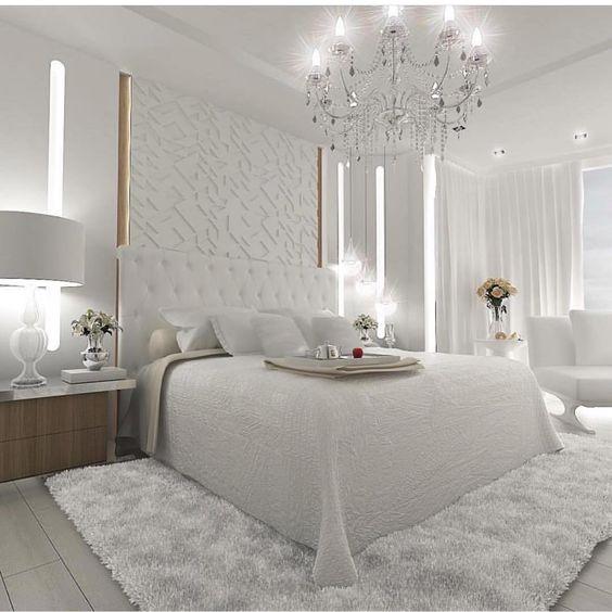 decoracao quarto casal moderno branco