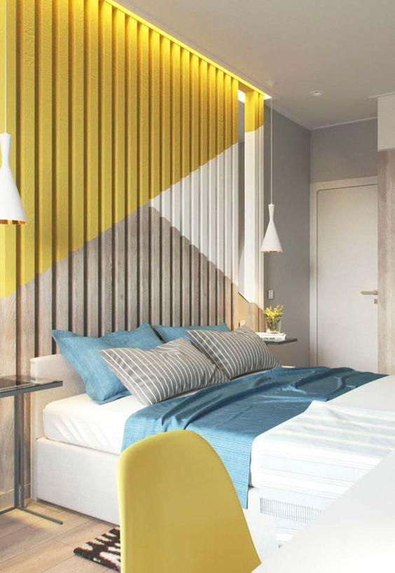 decoracao quarto casal moderno colorido