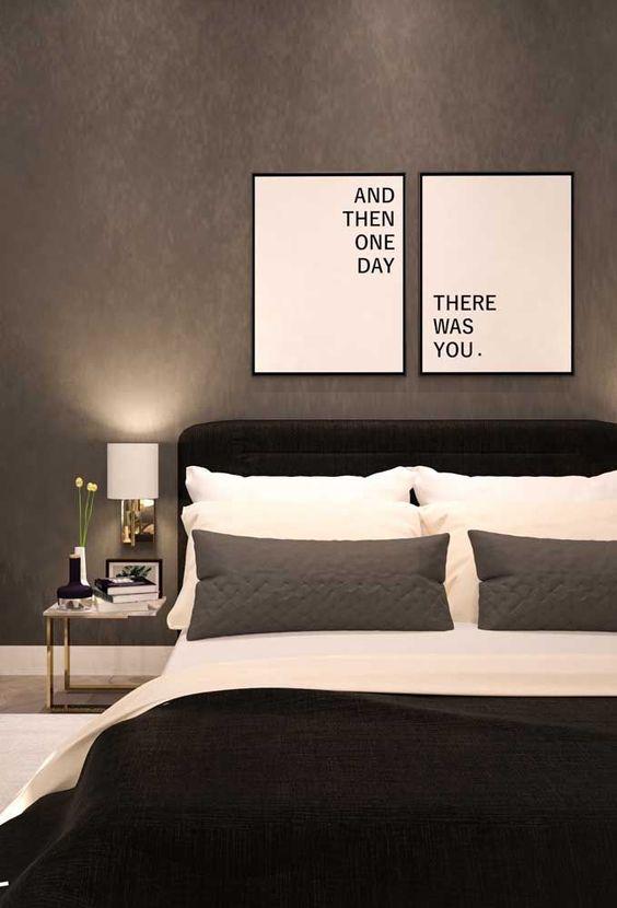 decoracao quarto casal moderno minimalista simples