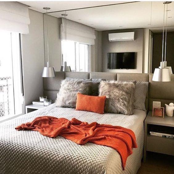 decoracao quarto casal moderno pequeno