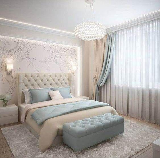 decoracao quarto casal moderno romantico cinza