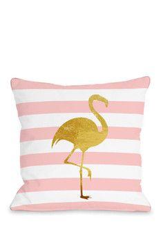 decoracao quarto flamingos almofada