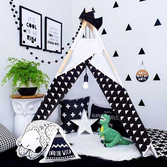 decoracao quarto preto crianca