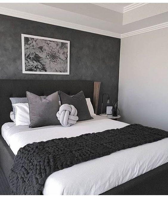 decoracao quarto preto parede