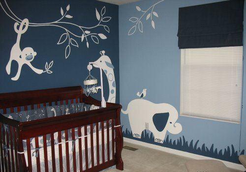 decoracao quato safari azul