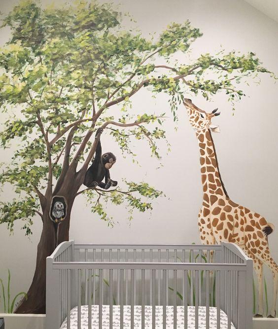 decoracao quato safari pintura