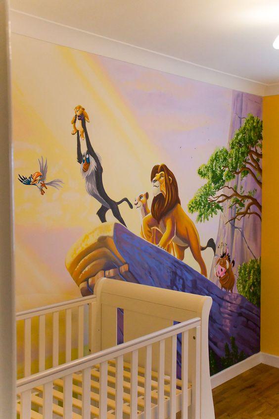 decoracao quato safari rei leao