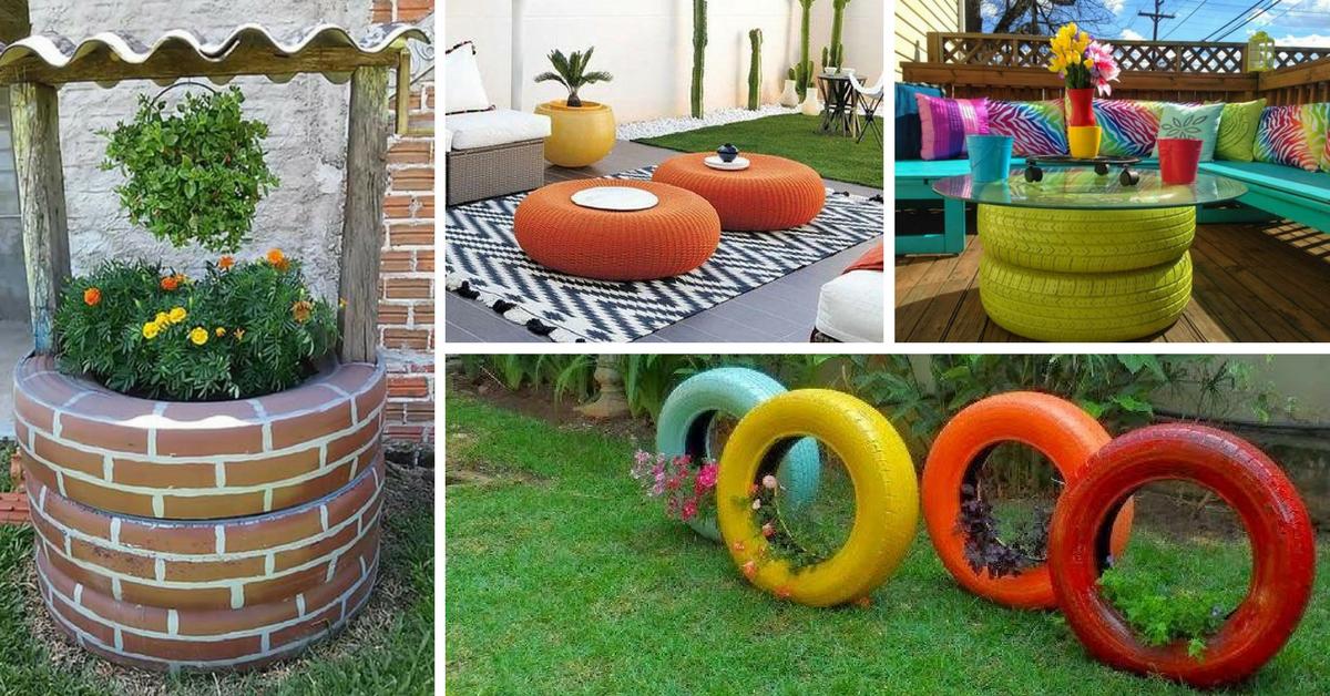 decoracao reciclagem pneus