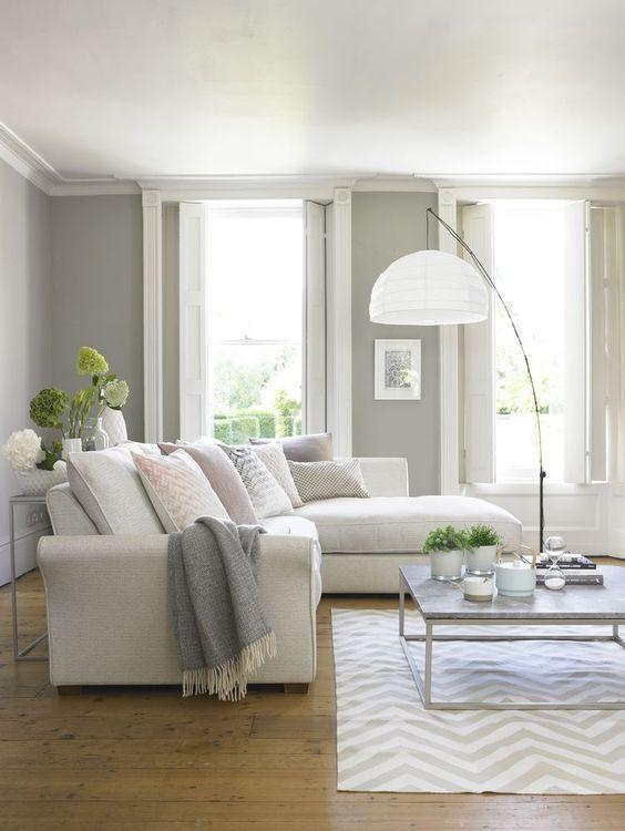 Dicas para decorar salas de estar brancas - How to decorate white walls in living room ...