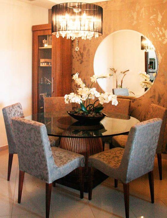 decoracao sala jantar mesa redonda 1