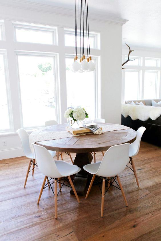 decoracao sala jantar mesa redonda 10