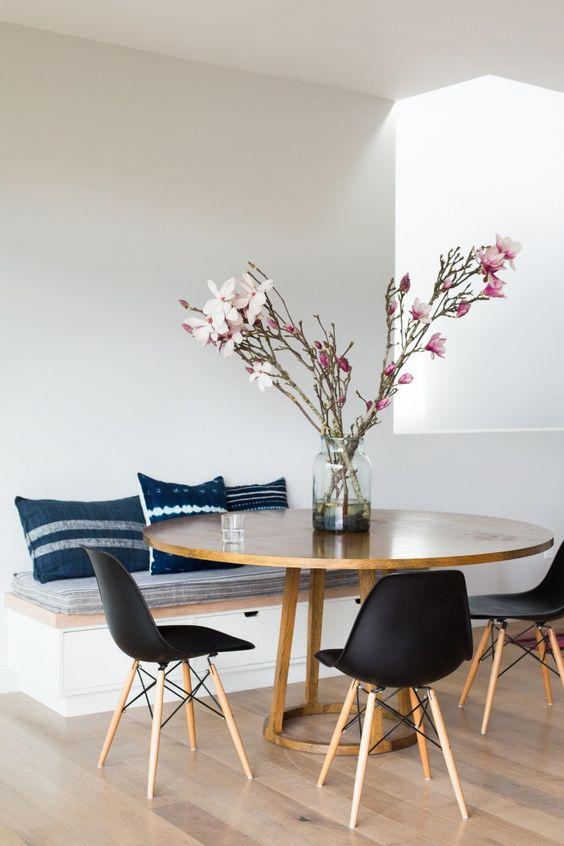 decoracao sala jantar mesa redonda 11