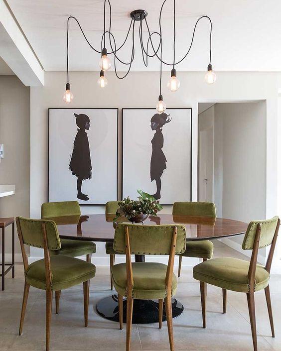 decoracao sala jantar mesa redonda 2