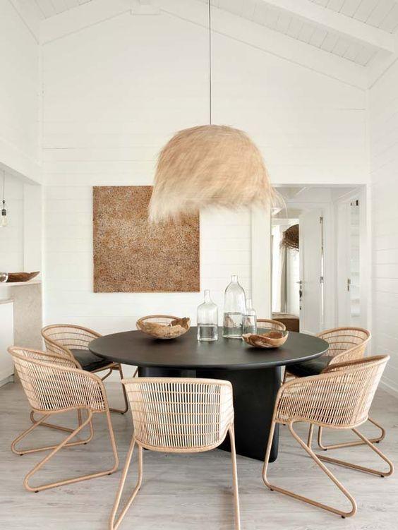 decoracao sala jantar mesa redonda 3