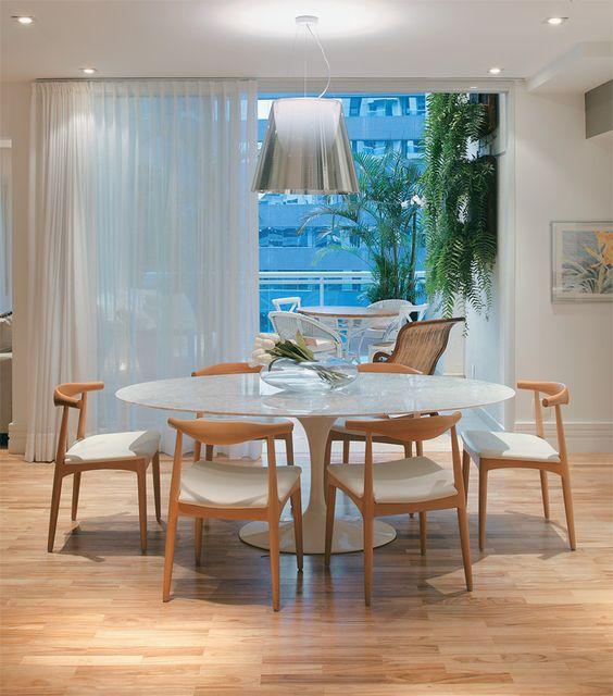 decoracao sala jantar mesa redonda 4