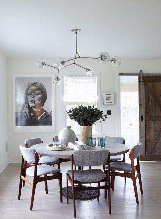 decoracao sala jantar mesa redonda 5