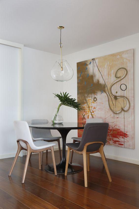 decoracao sala jantar mesa redonda 6