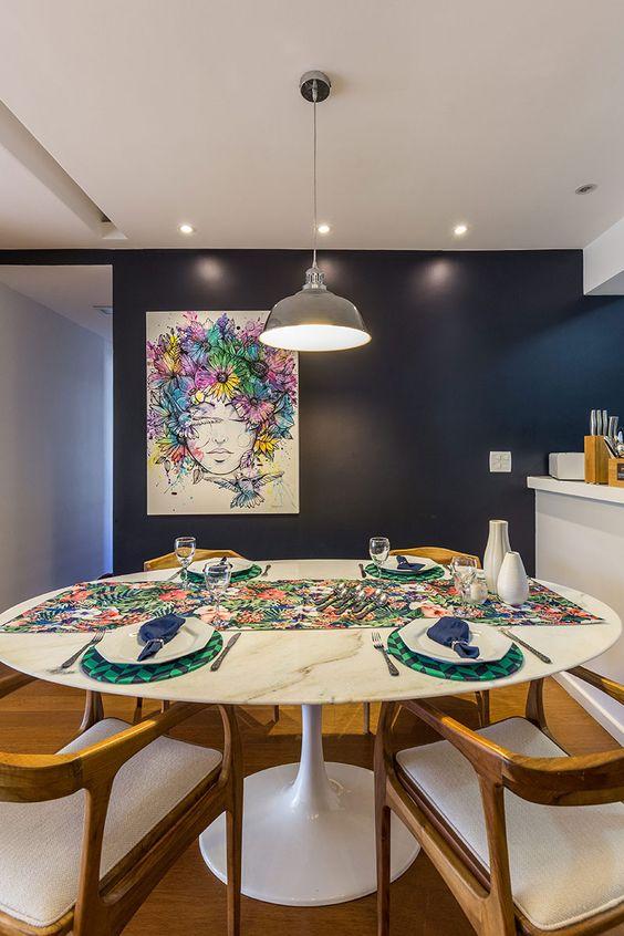 decoracao sala jantar mesa redonda 8