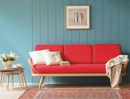 decoracao sala sofa vermelho 6