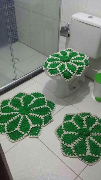 decoracao tapetes croche banheiro 1