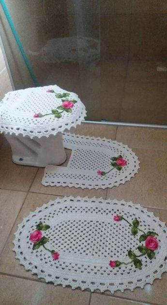 decoracao tapetes croche banheiro 2