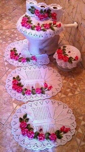decoracao tapetes croche banheiro 3