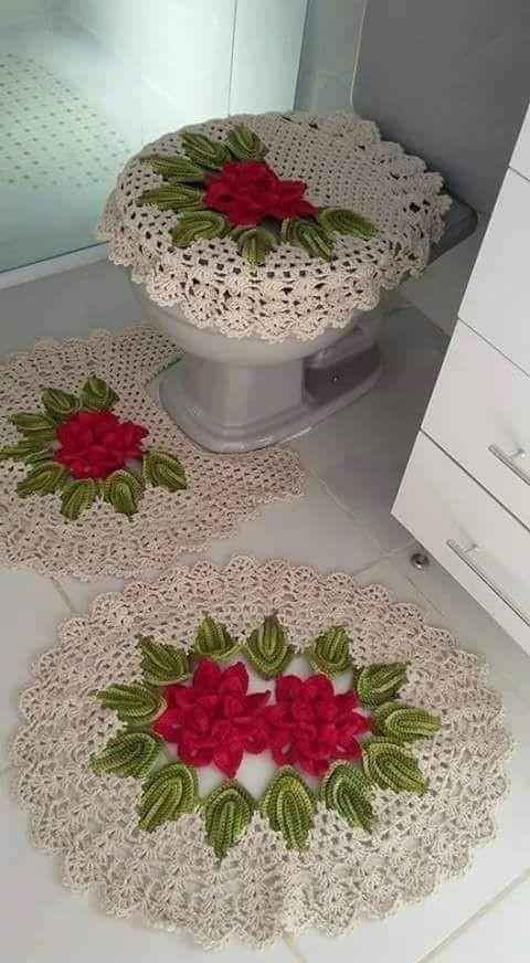 decoracao tapetes croche banheiro 4
