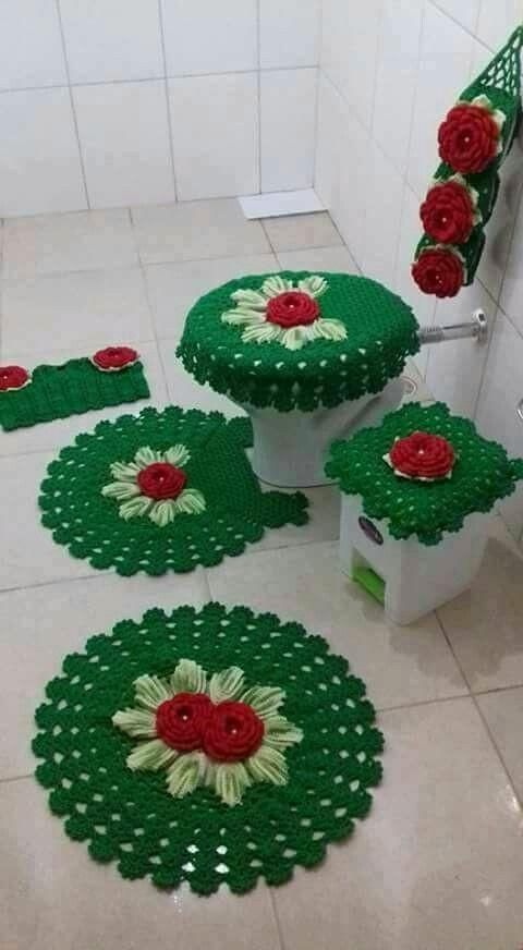 decoracao tapetes croche banheiro 5