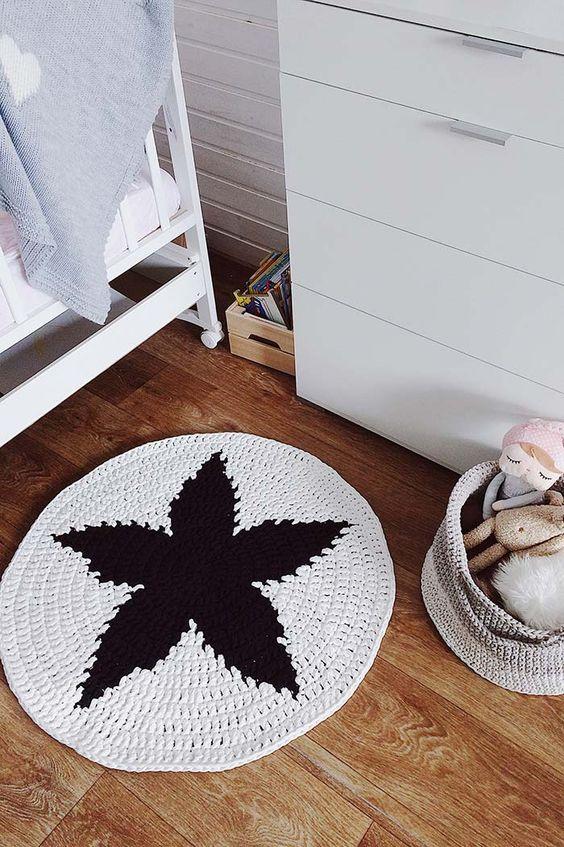 decoracao tapetes croche quarto 2