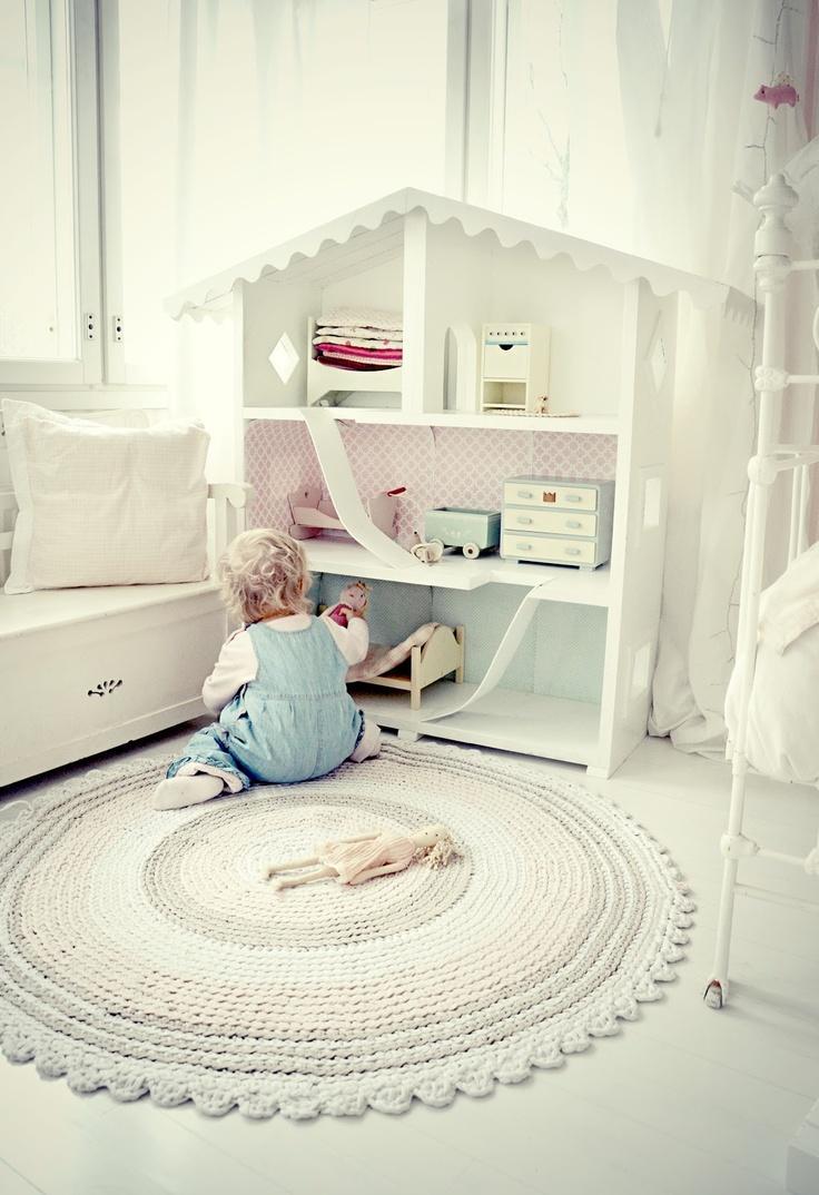 decoracao tapetes croche quarto