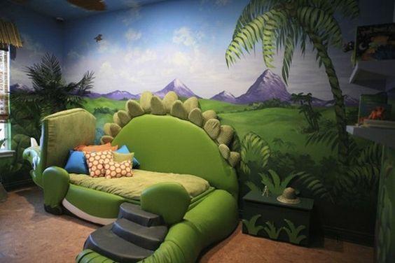 decoracao tematica quarto crianca dinossauros