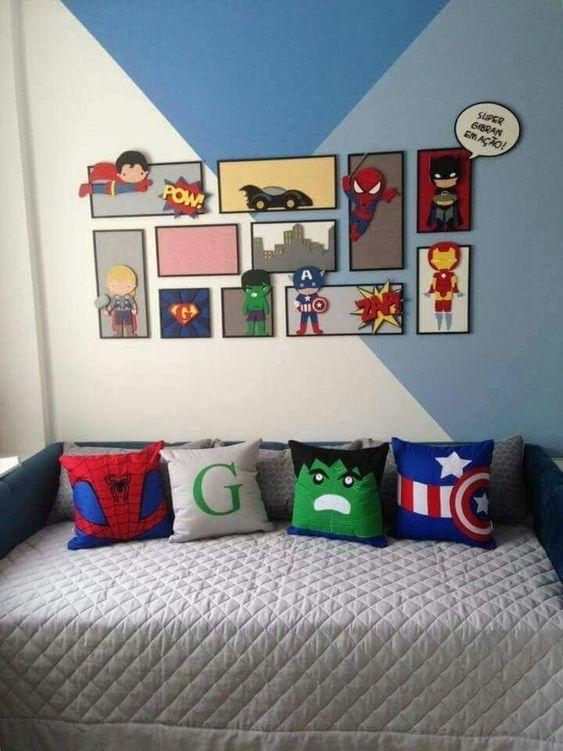 decoracao tematica quarto crianca herois
