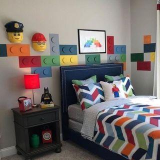 decoracao tematica quarto crianca lego