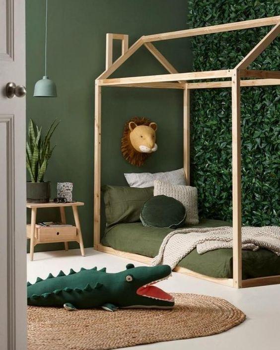 decoracao tematica quarto crianca selva