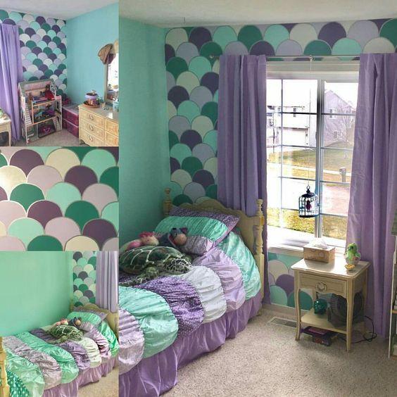 decoracao tematica quarto crianca sereia