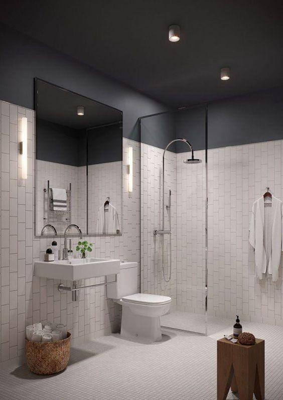 decoracao teto banheiro