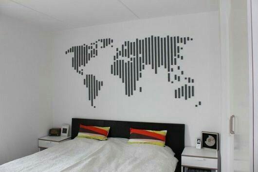 decorar com fita isolante mapa mundo