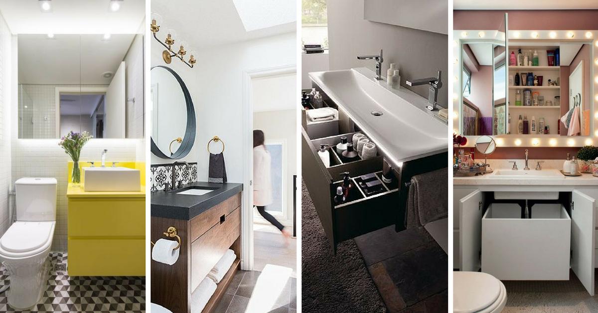 dicas modelos gabinete banheiro