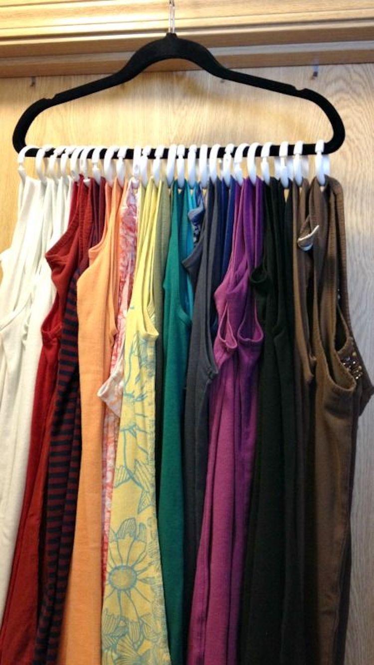 dicas organizar roupa camisetas
