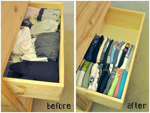 dicas organizar roupa gavetas
