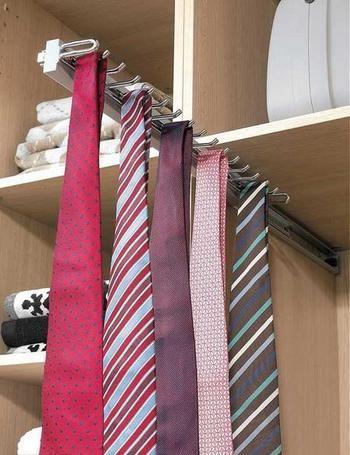 dicas organizar roupa gravatas