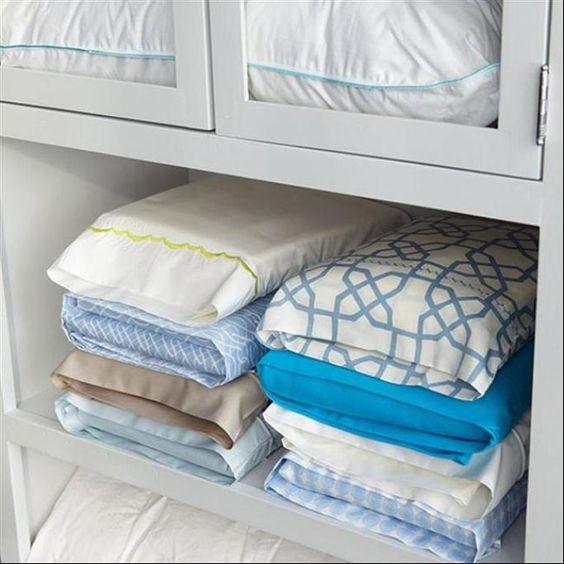 dicas organizar roupa roupa cama