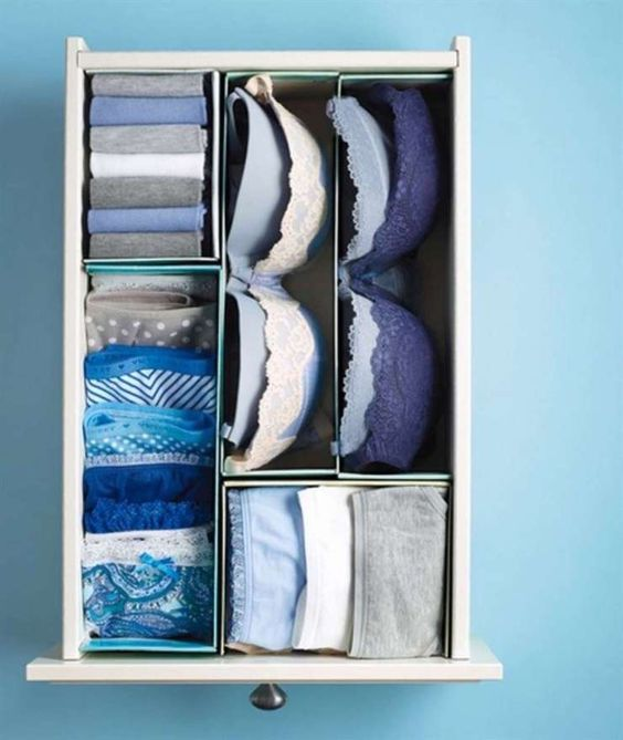 dicas organizar roupa roupa interior