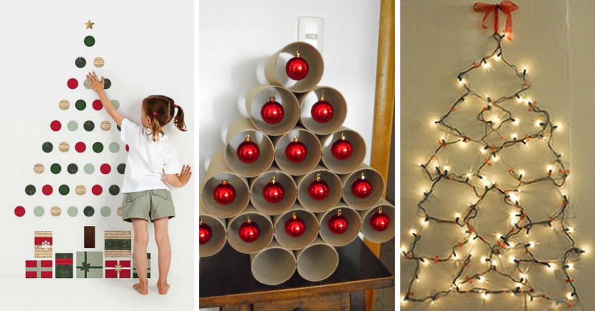 10+ Ideias deÁrvores de Natal Baratas -> Como Decorar Uma Arvore De Natal Simples E Bonita