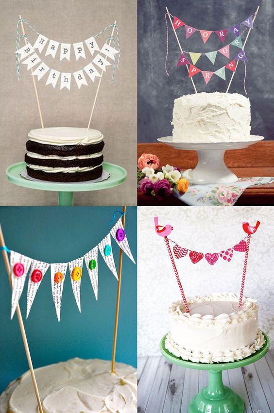 diy decoracao canudos topo bolo