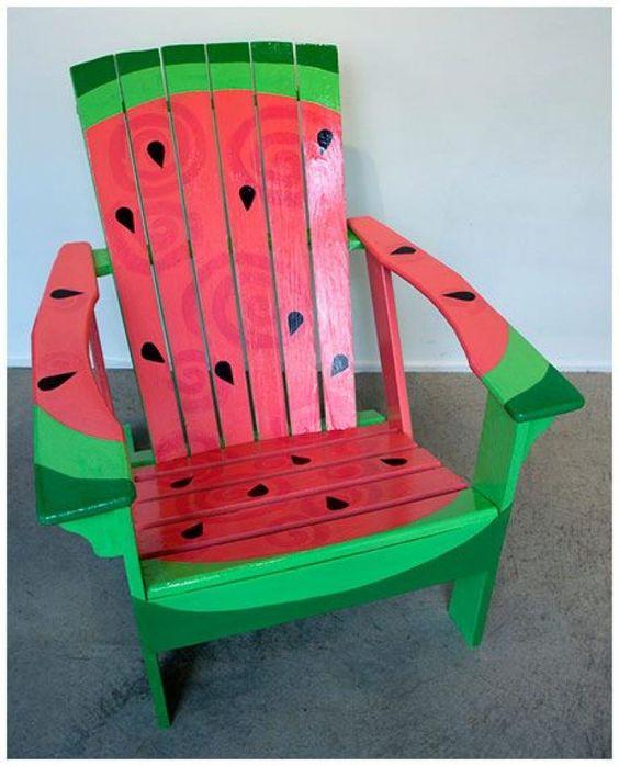 diy decoracao melancia cadeira