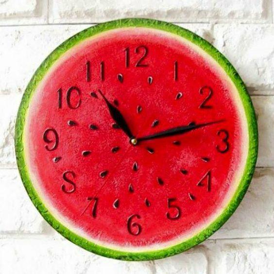 diy decoracao melancia relogio