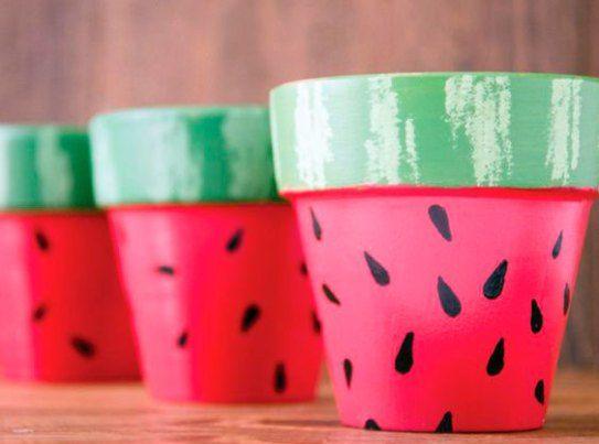 diy decoracao melancia vaso