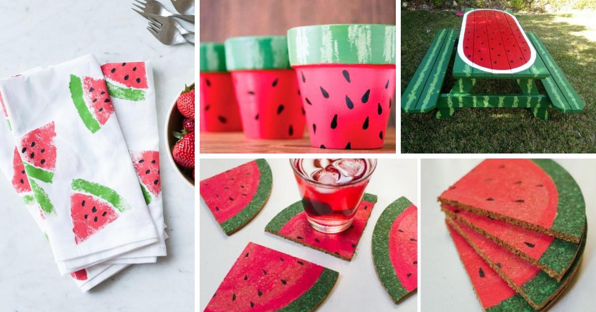 diy decoracao melancia