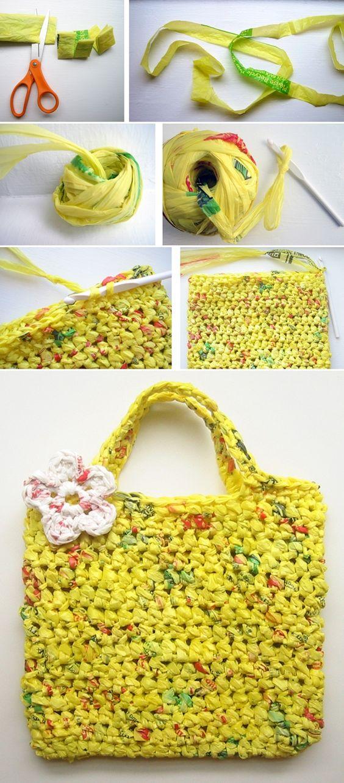 diy transformar sacola plastica